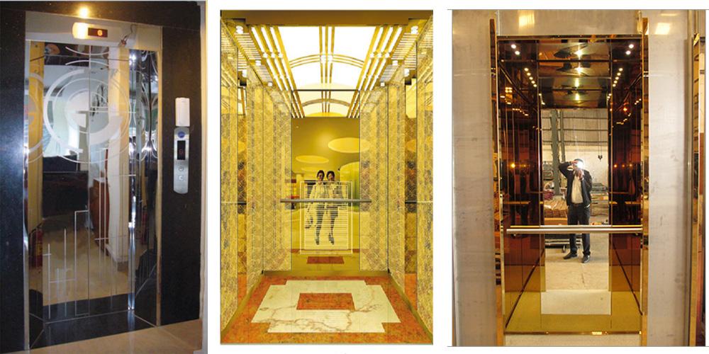 Ứng dụng inox gương trong ngành công nghiệp thang máy