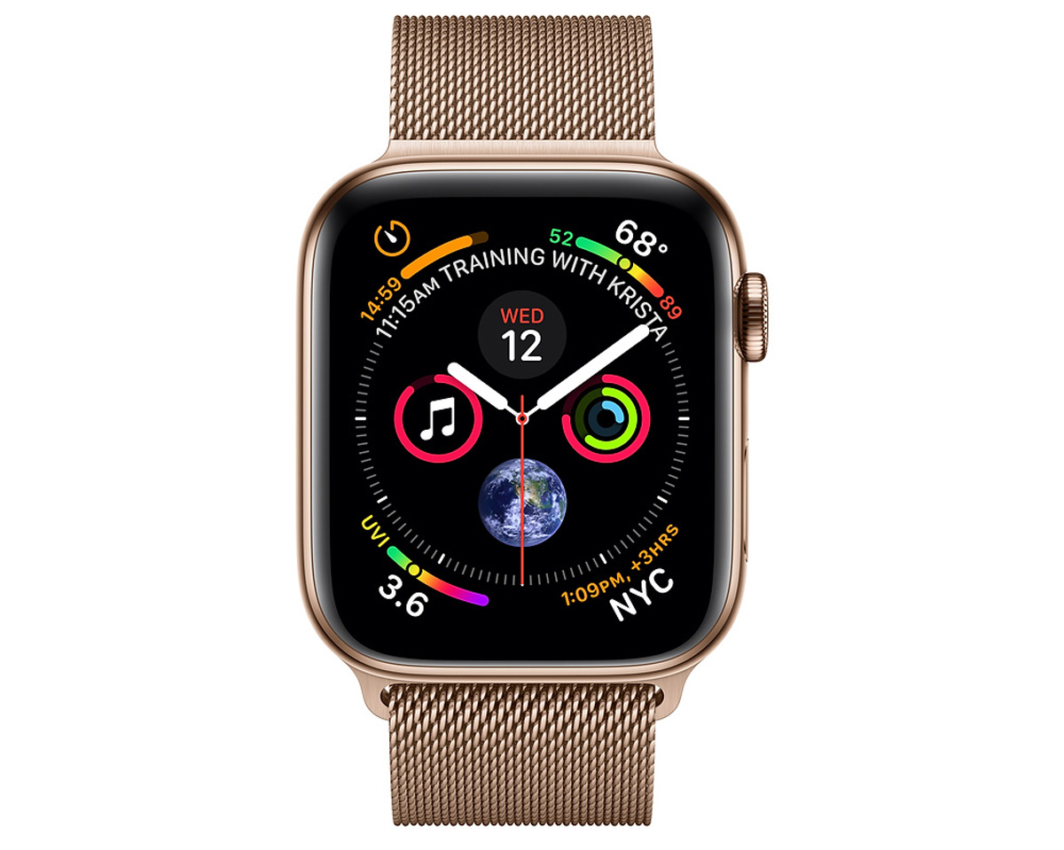 Đồng hồ thông minh apple watch stainless steel gold
