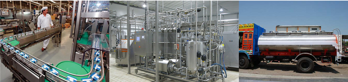 Những thiết bị sử dụng thép không gỉ để sản xuất sữa