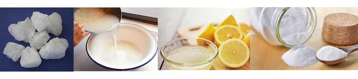 tuyệt chiêu tẩy vết hoen gỉ inox tại nhà bằng phèn, nước vo gạo, chanh, giấm, soda