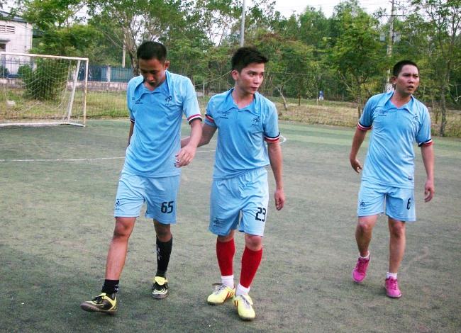 Tiền đạo Văn Duy (23) Ghi được 3 bàn trong chiến thắng suýt sao 5:4
