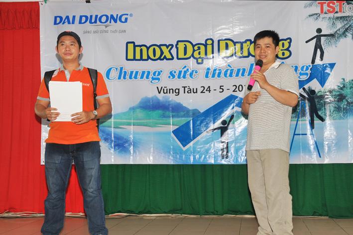 Anh Huỳnh Văn Thọ đại diện toàn thể CBCNV gửi lời cảm ơn đến Công đoàn và Ban lãnh đạo công ty