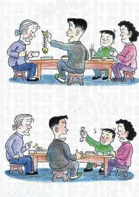 2. Hãy đối xử tốt với cha mẹ bạn, nếu bạn không muốn sau này bị con cái đối xử tệ bạc. Đó là luật nhân quả.