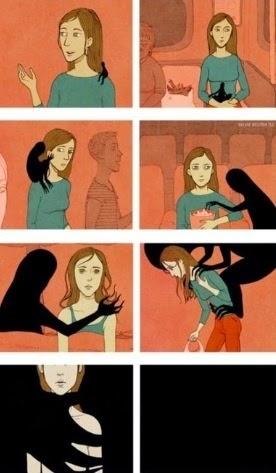Phiền muộn, trầm cảm như cái bóng vô hình ngày càng lớn dần rồi bóp nghẹt con người.