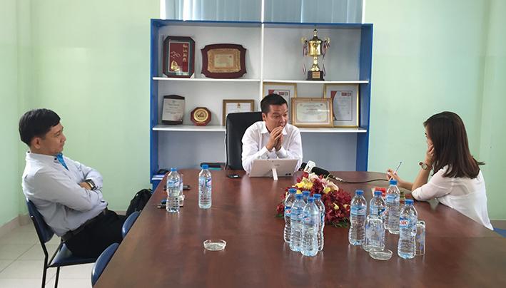Trưa 09/04/2015, Phóng viên VTV1 phỏng vấn TGĐ Inox Đại Dương