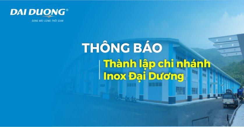 Thông báo thành lập chi nhánh Inox Đại Dương