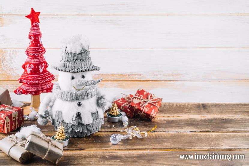 Hình nền Giáng sinh người tuyết ngộ nghĩnh