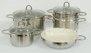 Bộ nồi Elo New Smagard inox 304 chuyên nấu bếp từ