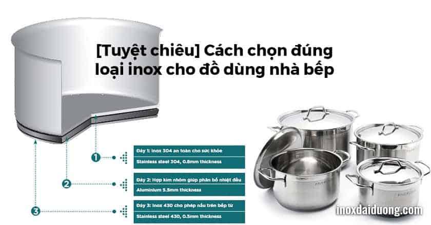 Cách chọn đúng loại inox cho đồ dùng nhà bếp