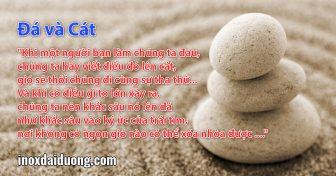 Hãy học cách viết trên đá và cát....