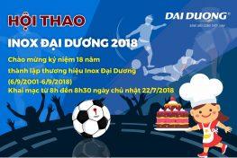 Hội thao Inox Đại Dương 2018: Kỷ niệm 18 năm thành lập