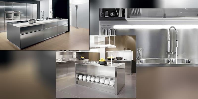 Ứng dụng làm: Tủ Inox, quầy bếp trong gia đình và suất ăn công nghiệpbằng Inox