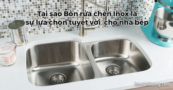 10 ưu điểm vượt trội của bồn rửa chén bằng inox