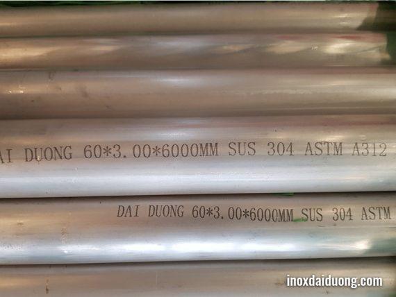 Ống inox công nghiệp Tròn sus 304 Inox Đại Dương sản xuất