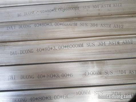 Ống inox công nghiệp Vuông hộp sus 304 Inox Đại Dương sản xuất