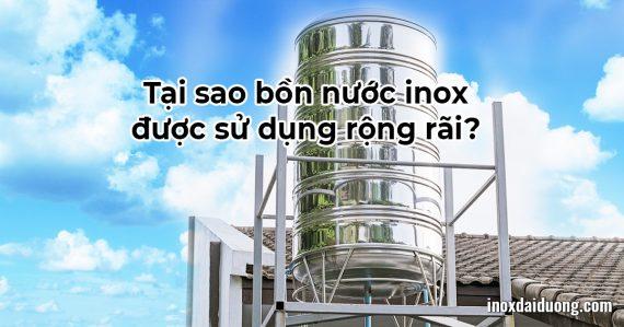 Tại sao bồn nước inox là vật dụng thiết yếu trong đời sống