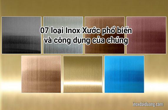 07 loại Inox Xước phổ biến và công dụng của chúng