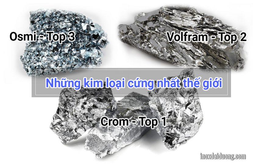 Những kim loại cứng nhất thế giới