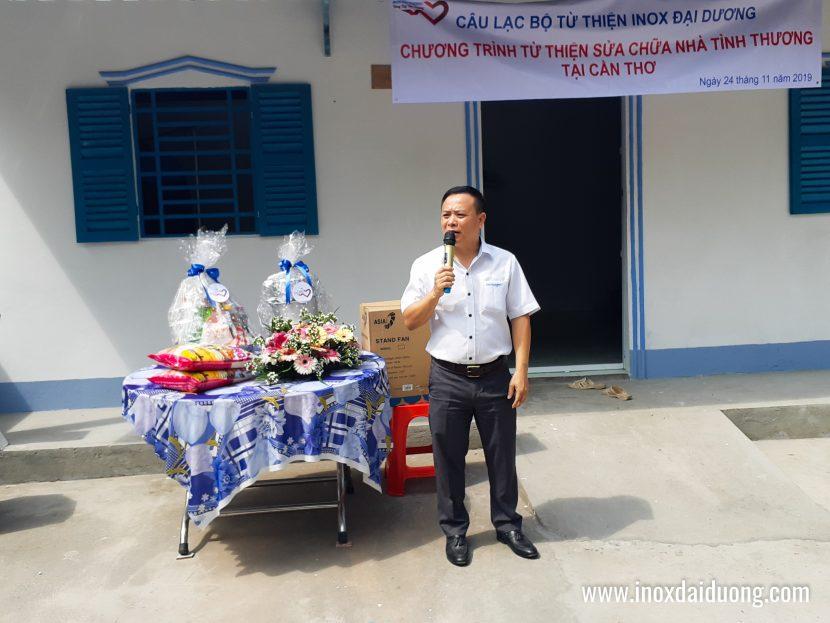 Ông Mai Quang Huy - PTGĐ Inox Đại Dương thay mặt cho Công ty phát biểu