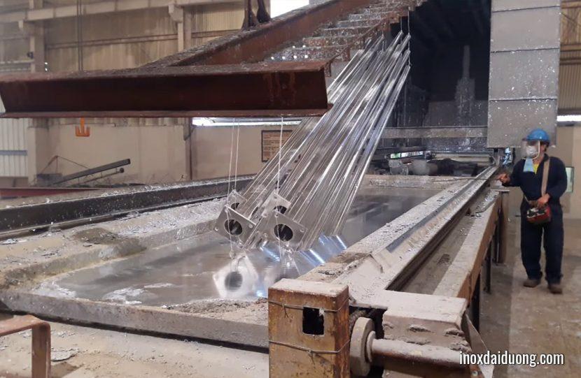 Quy trình sản xuất thép mạ kẽm