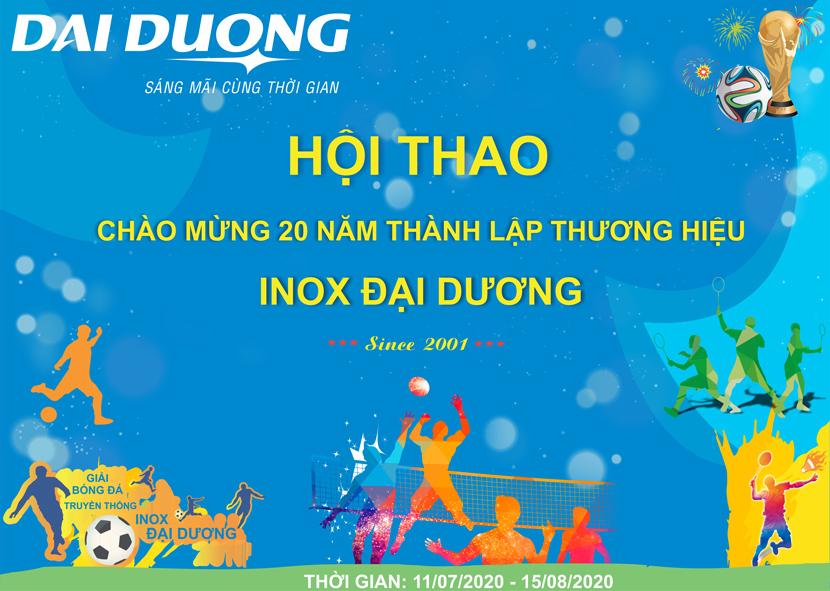 Hội thao Chào mừng 20 năm thành lập thương hiệu Inox Đại Dương 2001 – 2021