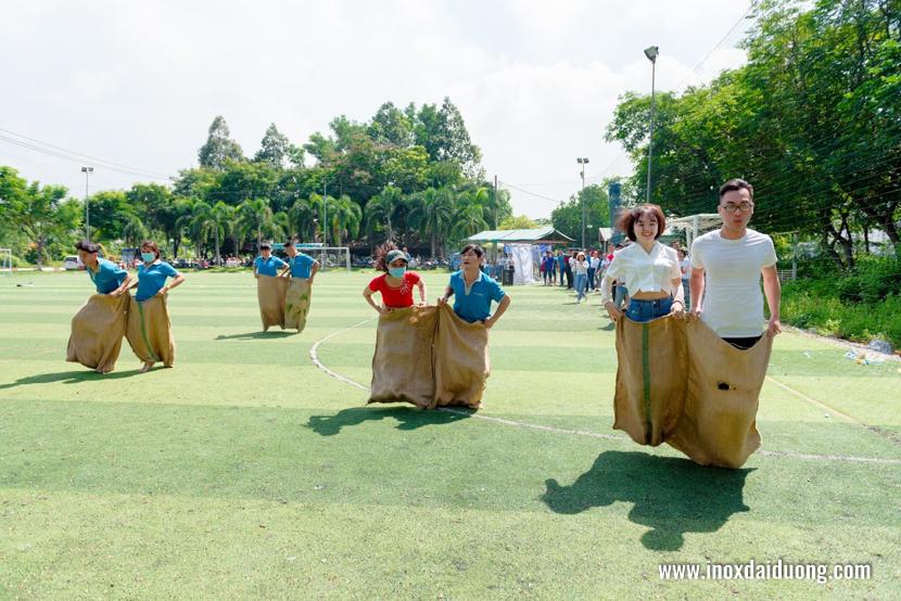 nhảy bao bố nam nữ hội thao inox đại dương 11/07/2020