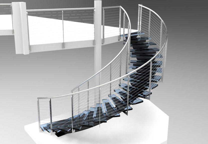 Cầu thang Inox sang trọng